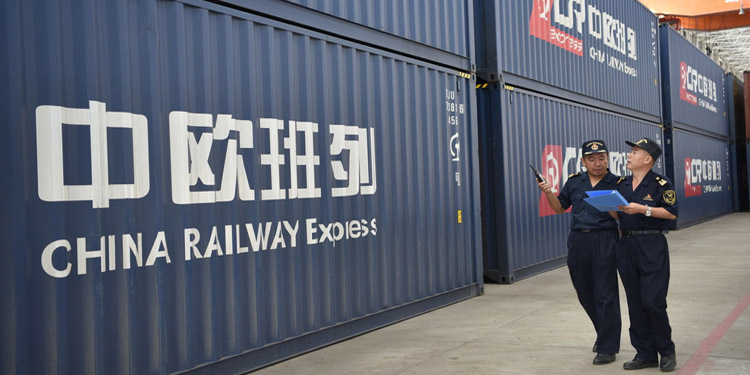 China Europe freight trains