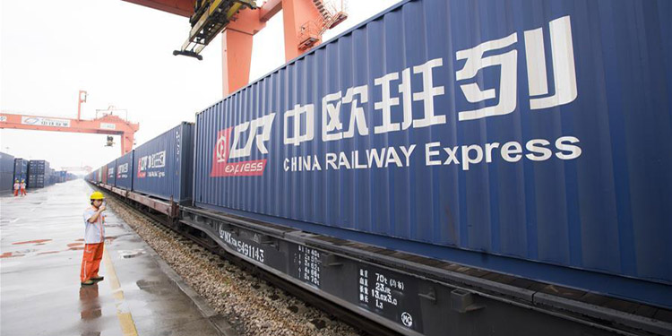 New China Europe freight train